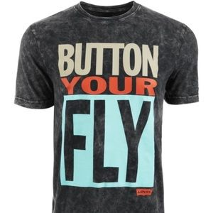 Levi's | Button Your Fly Distressed Graphic Shirt